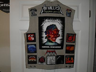 Metallica Tribute Vests-STONE-XL...Slayer, AC/DC,Megadeth,Overkill,Kiss,Pantera