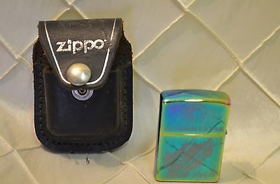 Afghanistan Zippo Lighter ISAF with 1947 Zippo Car 2010 w/ leather case RARE