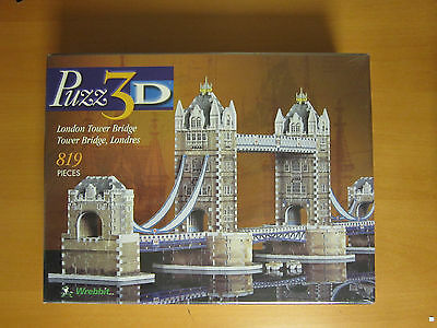 Puzz 3D - London Tower Bridge 819 Pieces (New-Old Stock)