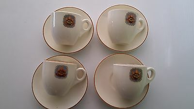 4 x Hotel Vancouver Cups & Saucers. Royal Doulton. Canadian National Railway.