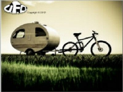 """*Postcard-""""Bicycle...with hitch on small Trailer  --CLASSIC--"""