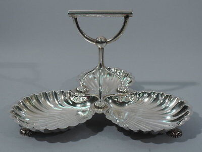 Scallop Shell Serving Dish - English Silverplate - Walker & Hall
