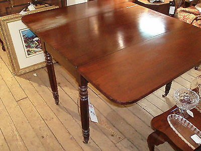Antique Solid Mahogany Sheraton Drop Leaf Table