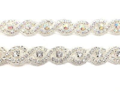 Stunning 1 yard beautiful bridal Rhinestone Belt Bridal lace for Wedding dress