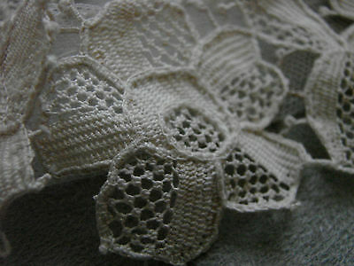 Vintage Crocheted Floral Collar & Cuffs EC Edwardian 20s NOS Antique White Tag