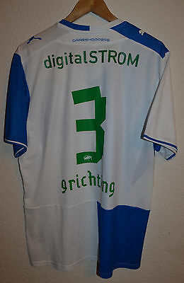 Grasshoppers Switzerland 2013/2014 Home Football Shirt Jersey Puma #3 Grichting