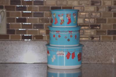 Tupperware Christmas Canisters