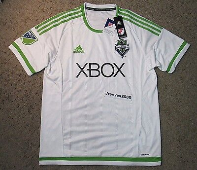 NWT Adidas MLS Seattle Sounders FC Secondary Replica Jersey Sz L 100% Authentic