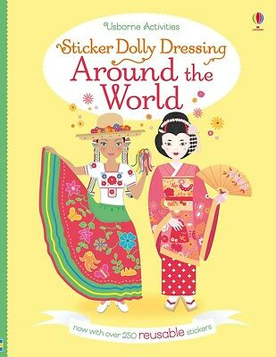 Sticker Dolly Dressing Around the World ~ Usborne 539801 NEW ~ reusable stickers