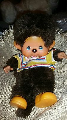 "11"" Monchhichi Hand puppet Vintage 1974 Boy in original shirt & shoes"