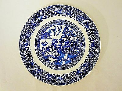"Vtg Blue Willow Woods Ware 9"" Plate Made England"