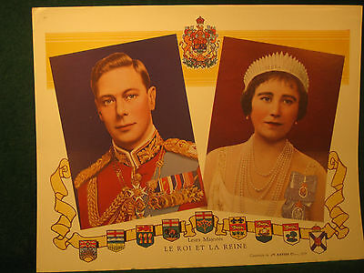 King George VI & Queen 1939 Commorative Visit to Canada Compliaments T. Eaton Co