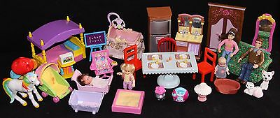 Plastic Furniture and Accessories for Plastic Doll Houses - HUGE & RARE lot # 1