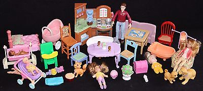 Plastic Furniture and Accessories for Plastic Doll Houses - HUGE & RARE lot # 3