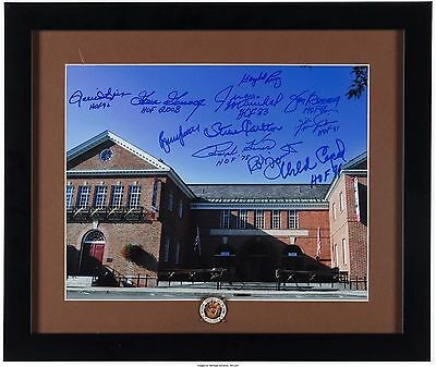 Baseball Hall of Fame Signed Autographed by 11 HOF Players 16x20 Framed Picture