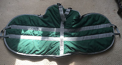 Green Storm King English Horse Saddle Carrier Padded Luggage