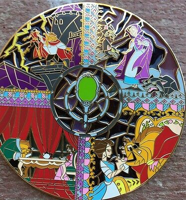 Beauty And The Beast Fantasy Pin Disney Pin BATB LE 60 Stained Glass