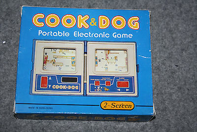 ++ jeu electronique COOK & DOG portable electronic GAME LCD double screen H-85 +