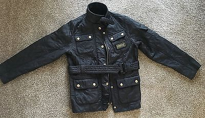 Barbour International Quilted Jacket Black Child's Size Medium 8-9 Years