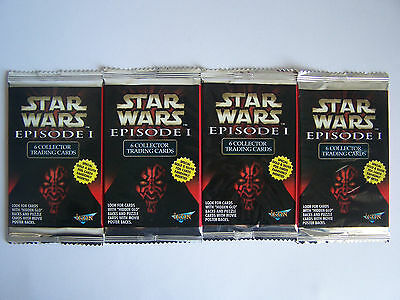 Star Wars Episode 1 The Phantom Menace Trading Cards 2001 - 4 Packs