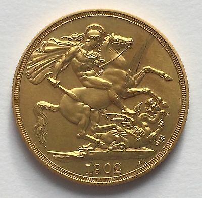 1902 King Edward VII Gold Matt Proof Two Pounds Piece £2 VERY RARE!