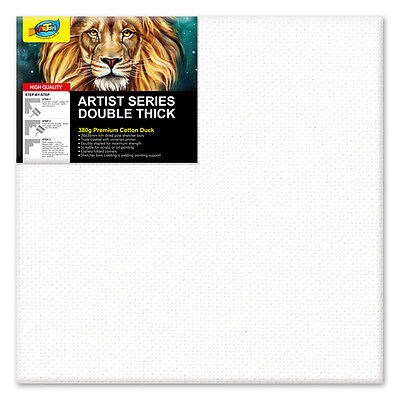 """Artoys Studio Blank Canvas Double Thick 12x12"""" (30.5x30.5cm) 380gsm 35mm Thick"""