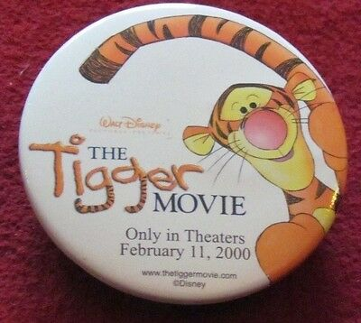 "Disney Store Cast Member button, The Tigger Movie w/sound ""boing, boing"""