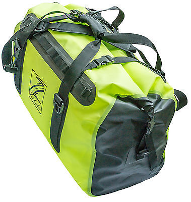 Waterproof Motorcycle Luggage Roll Top Dry Bag Tail Pack 60 Litre - Green/Black