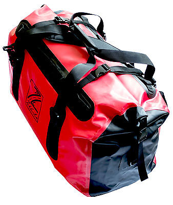 Waterproof Motorcycle Luggage Roll Top Dry Bag Tail Pack 60 Litre - Red / Black