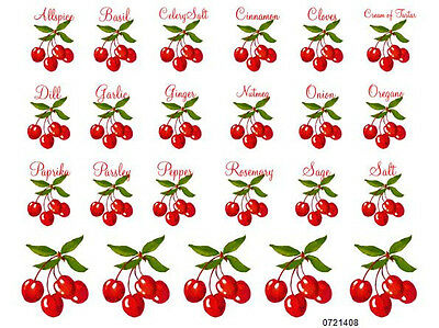 NeW! SHaBbY CHeRrY SPiCe LaBeLs WaTerSLiDe DeCALs