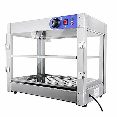 Yescom Food Warmers 2-Tier 110V Commercial Countertop Food Pizza Warmer 750W