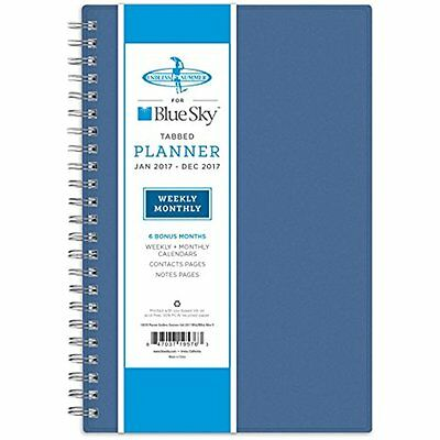 Blue Electronics Features Sky 2017 Weekly Monthly Planner, Wire-O Binding, 5 x