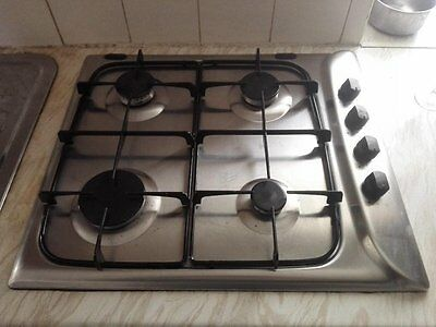 Hotpoint G640SX 58cm Gas Hob - Stainless Steel