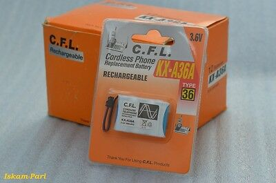 C.F.L. - KX-A36A – Battery For Panasonic / 3.6v DECT Cordless Phone Battery 300m