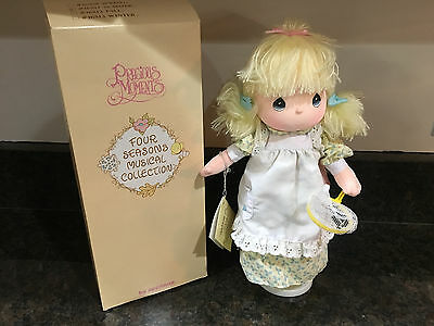 """Precious Moments Four Seasons Musical Collection """"Summer"""" Doll in Box"""