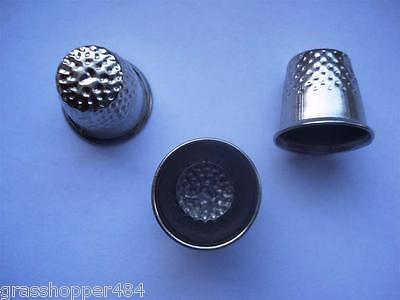 Silver Metal Thimbles - Sewing Crafts Diy - Multi Listing