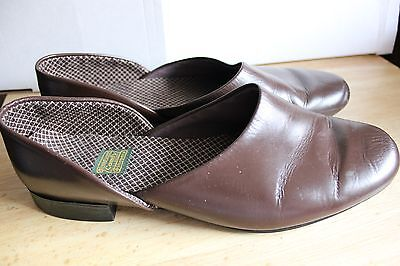 Vintage Daniel Green Men's Comfy Slippers Sz 9 D Brown
