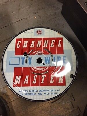 100 Ft. Channel Master Tv Antenna Flat Wire No. 9562 Twin Twenty - Made Usa  P68