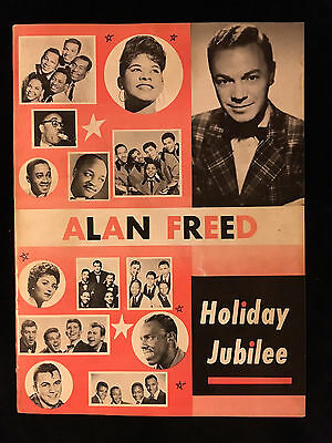 Alan Freed-Concert Program-Holiday Jubilee-Platters-Sam Taylor-Original-1955