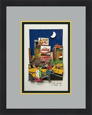 John Suchy Love of Broadway NYC L/ED Signed 3D POP ART Custom Framed FREE SHIP