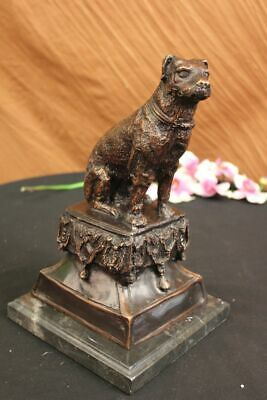 Cast Bronze Dog Sclupture on Marble Base Labrador Retriever StatueFigurine EG