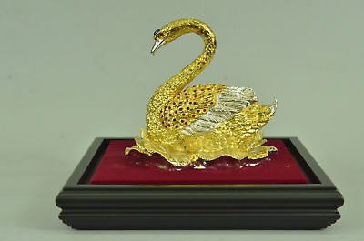 French Empire Figural Winged Swan Bronze Brass Detailed Decoration GiftEG