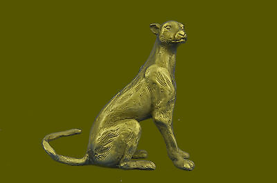 Jaguar Panther Leopard Cougar Big Cat Collector Artwork Bronze Statue EG