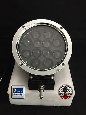 "Land Rover Defender Spot Light LED CREE 5100 Lumen 60W 7"" x 1  Spectre Silver"