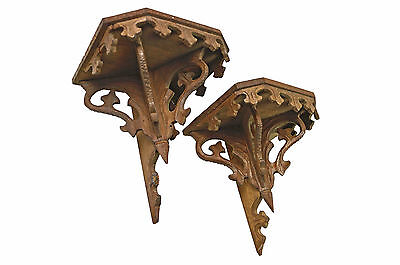 Pair of Antique  Wall Consoles or Bracket Shelves, French.