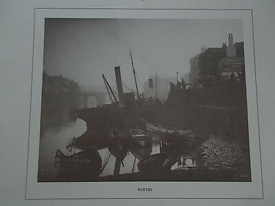 c1880 Frank Meadow Sutcliffe B/W Print View of the Harbour & Marine Hotel WHITBY