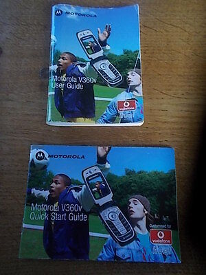 MOTOROLA V360V Mobile Phone Owner User Guides Instruction Manuals Quick Start
