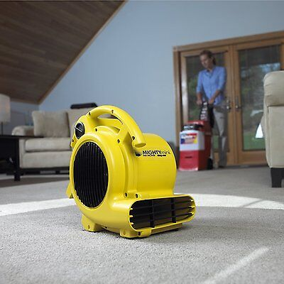 Quiet Air Mover Blower Fan Carpet Floor Dryer Wall Ceiling Water Damage 3 Speed