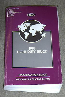 1997 Ford Truck F150 F250 E150 E250 Ranger Explorer Others Specifications Manual