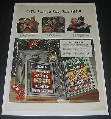 Print Ad 1941 CANDY Life Savers ART Christmas Book Sweetest Story Ever Told